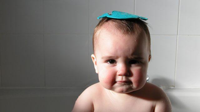 赤ちゃん 一番風呂